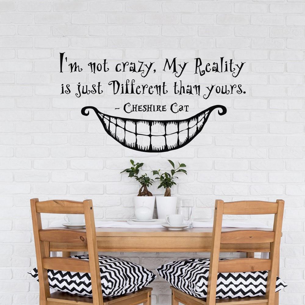 Kids Bedroom Wall Decal Alice In Wonderland Quote Im Not Crazy My