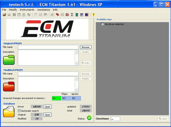 ECM титана V1.61 контрольной суммы с 18475 драйвер Программы для компьютера для KESS V2 KTAG Инструмент программирования ECU ...