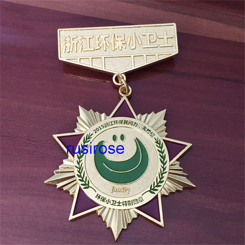 Custom personality medal, metal medal making environmental organizations,OEM Up and down combination of medals