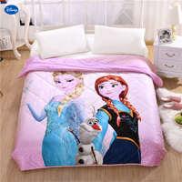 יפה נסיכת דיסני קפוא אלזה ואנה שמיכות קיץ תינוקות בנות ילדי ממרחי מיטה מצעי שמיכת בד כותנה