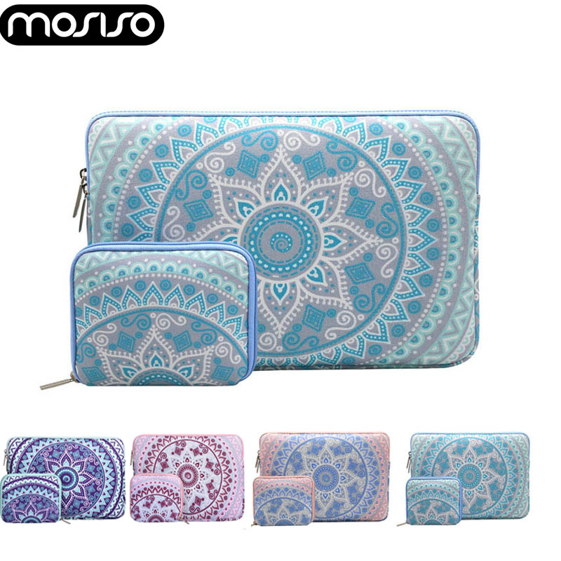 MOSISO 2018 Canvas Laptop Sleeve Case For Notebook 11.6 12 13.3 15.6inch Sleeve Case For Macbook Air Retina Pro 13 15 Touch Bar