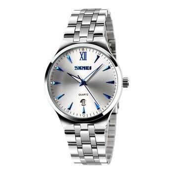 цена SKMEI Quartz Women Watch Women's Men Clock Couples Top Luxury Female WristWatches Waterproof Ladies Dress relogio feminino 9071 онлайн в 2017 году