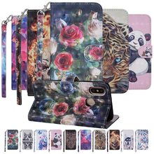 Magnetic Flip Case For Xiaomi Mi 6 Mi 8 Redmi 6 6A Note 4 4X 5A Y1 3D Patterned PU Leather Wallet Purse Card Holder Stand Cover(China)