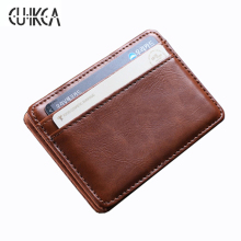 Hot sale High quality Imitation leather magic wallets Fashion small men card holder mini purse for men wallet FGS888