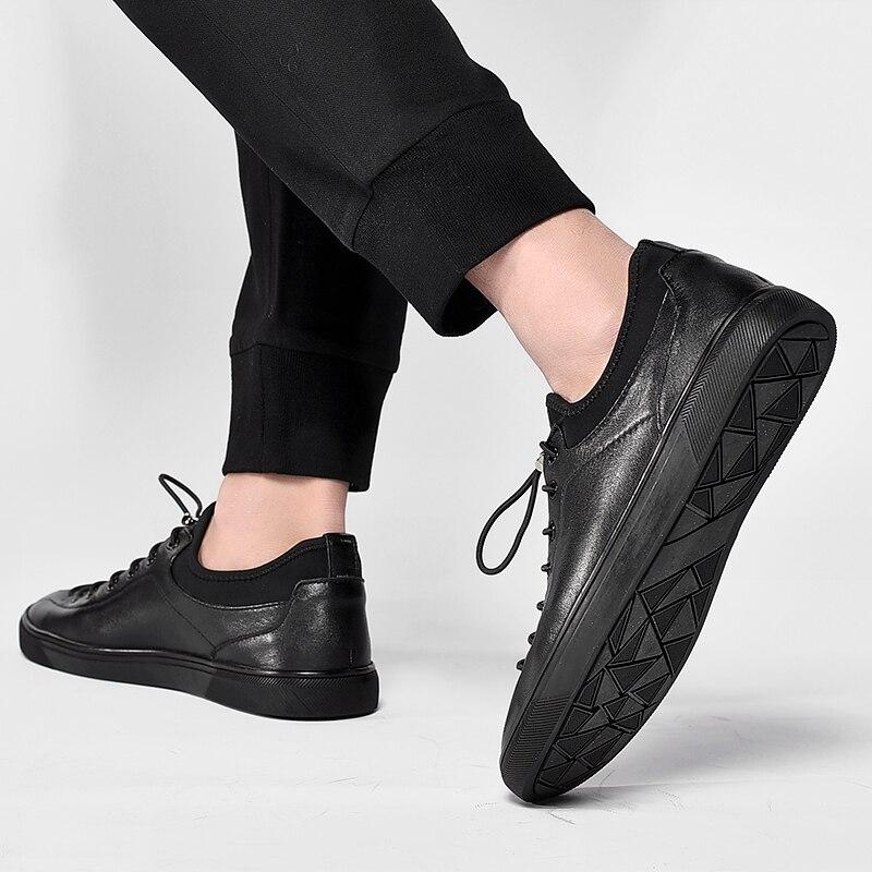De Primavera Casuais Preto Hombre Confortáveis Calçados Homens Sapatos Arrivals Dos Couro Respirável Genuína New Northmarch Zapato Sapatilhas SOxXAEq