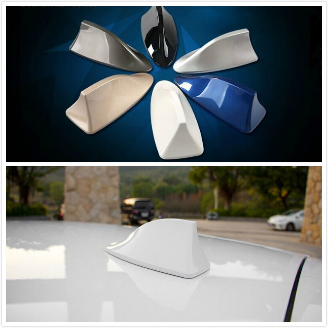 Red Auto Car Shark Fin Antenna Aerials With AM FM Radio Signal Modifiction Conversion car styling