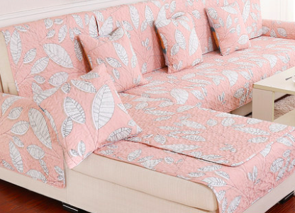 Hot Sofa Covers Slip Resistant Towel Slipcover Pink Color For