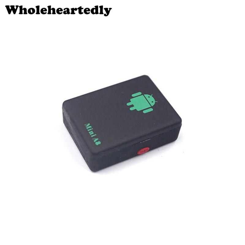 A8 Mini GSM/GPRS mundial en tiempo Real GSM GPRS que sigue el dispositivo con SOS botón para coches niños mayor mascotas No GPS Tracker
