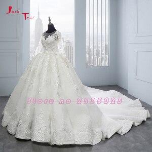 Image 3 - 2020 New Arrival Bruidsjurken suknie ślubne z długim rękawem suknia ślubna szata de Mariee Princesse de Luxe 3D kwiaty Hochzeit