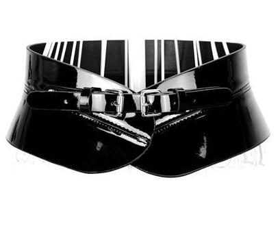 Cinturones anchos para Las Mujeres de Tendencia de cuero de la Marca de moda de Lujo de ultra ancho cinturón de Hebilla de la Aleación Elegante Cinturones para las mujeres