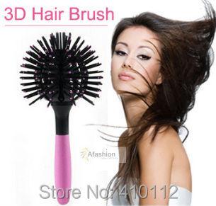 1pc 3D bomb curl Hair Brush spherical curler styling tools Human Detangling escova de cabelo tangle Comb care Free shipping
