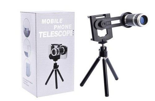 Tripod stand clip telephoto mobile phone telescope lens