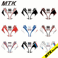 MTKRACING Strickers Front Fairing Motor S 1000RR Number Board 3D Gel Protector For BMW 2015 2016