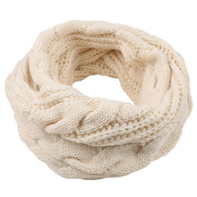 Twist wool scarf autumn and winter sets of womens scarves knit mens collar
