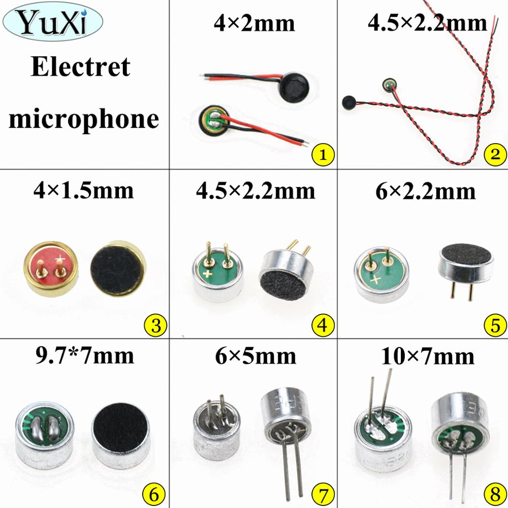 10pcs Brand New Mini MIC Capsule Electret Condenser 2 Pins Bes Z6
