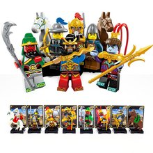 )8PCS/set New Enlighten 1501 A/B One of China Romance the Three Kingdoms Building Blocks Toys For Children Kids toys dr tong 80pcs glory of kings figures one of china romance the three kingdoms king knight heroes building blocks toys gifts 29001