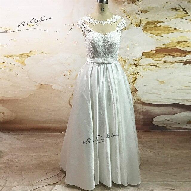 Neue Designer Elfenbein Vintage Hochzeit Kleid 2017 Spitze ...