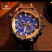 YAZOLE 2017 Hombres Relojes de Lujo Ocasionales del Reloj Análogo de Los Hombres Del Ejército Militar Deportes Reloj de Cuarzo Masculino Del Relogio masculino