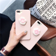 Lovely 3D Soft Cat claw phone Cases For iphone 6 6s 6plus 7 7Plus Soft TPU phone back cover girl style For iphone 5 5s 6s plus чехол накладка для iphone 5 5s 6 6s 6plus 6s plus змеиный дизайн
