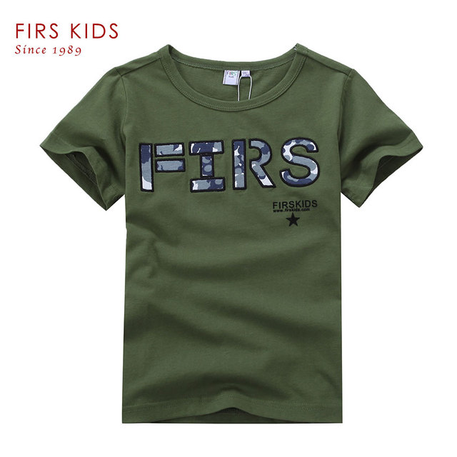 FIRS KIDS 2015 new fashion 100% Cotton summer children t shirt boys clothes kids clothes for boy kids brand children clothing