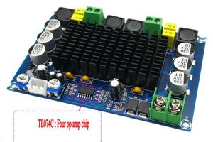 Image 3 - TPA3116D2 150W*2 Dual channel Stereo High Power Digital Audio Power Amplifier Board with TL074C OPAMP
