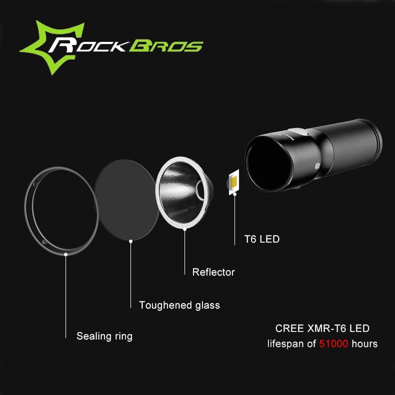 ROCKBROS MTB lagano USB punjivo svjetlo za bicikl, vodootporan - Biciklizam - Foto 5