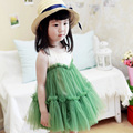 kids girl dress 2017 summer brand lace girls party dresses high quality sleeveless stitching girl dress christmas kids clothing