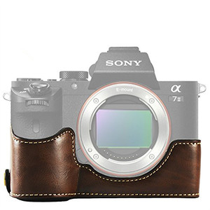 Image 2 - limitX Pu Leather Case Bottom Opening Version Protective Half Body Cover Base For Sony Alpha A7 III 3 / A7R III 3 Digital Camera