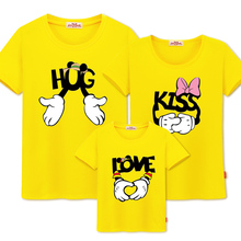 Family Matching Clothes Look father mother son Daughter Outfits Clothing Mother Love Cotton Mickey t-shirt cartoon