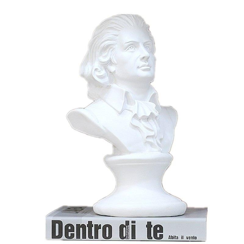 Estatuas de busto y esculturas de estilo europeo de época clásica de resina para decoración del hogar R468 15cm estatua de David retratos de cabeza Mini Gypsum Michelangelo decoración del hogar artesanía de resina boceto de práctica escultura de decoración de la habitación