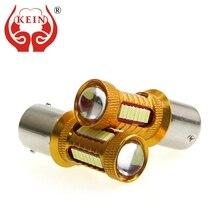 цена на KEIN 2PCS P21W LED ba15s Bulb 1156 38smd auto car light P21W Bulb Reverse Lights Brake Turn Signal S25 DRL Signal Lamp 12V white