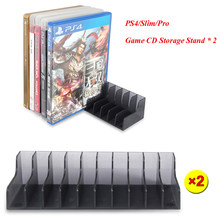 2 pcs/set PS4 Slim Pro Game Accessories CD Discs Storage Bracket Holder for Sony Playstation 4 PS4 Game Disk Stand(China)