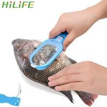 HILIFE Fisch waagen Schaber Fisch Waagen Haut Remover Scaler und messer Clam Öffner Fisch Reinigung Werkzeuge Küche Gadgets
