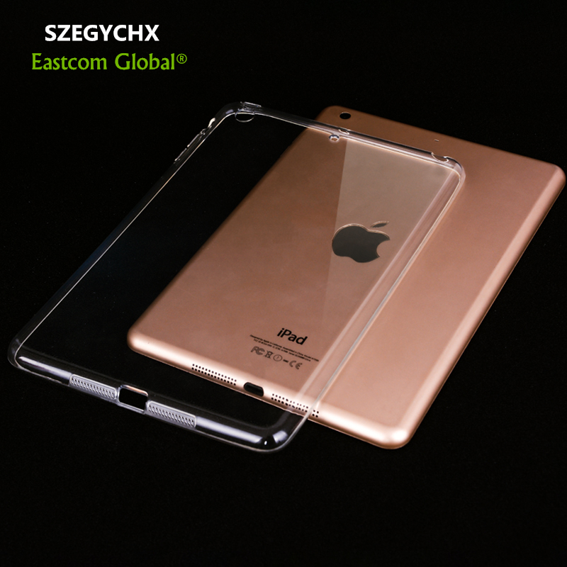 New Arrival Tablet Case For Apple iPad Air2 Case Crystal Clear Transparent Silicon Ultra Thin Slim TPU Soft for iPad Air 2 Cover купить