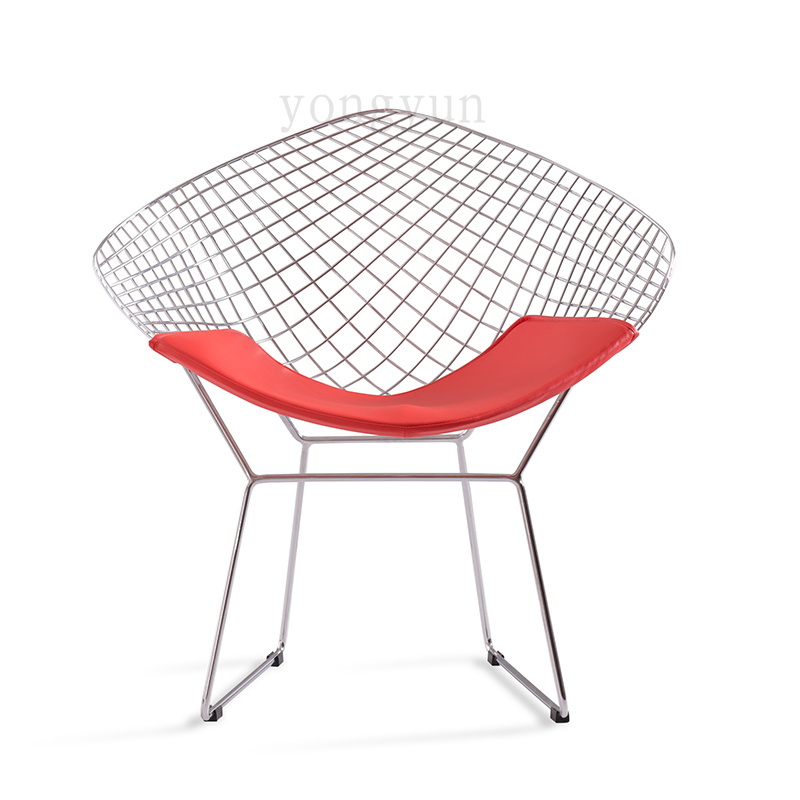 Aliexpress.com : Buy FREE SHIPPING Leisure Chair Diamond Steel Wire Chair  Bertoia Diamond Chair Cushion Modern Wire Chair Chromed From Reliable  Bertoia ...