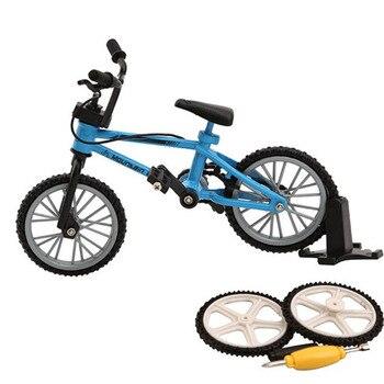 Aleación Mini BMX dedo bicicletas de montaña juguetes al por menor caja + 2 uds rueda de repuesto mini-dedo-bmx bicicleta juego creativo regalo para niños