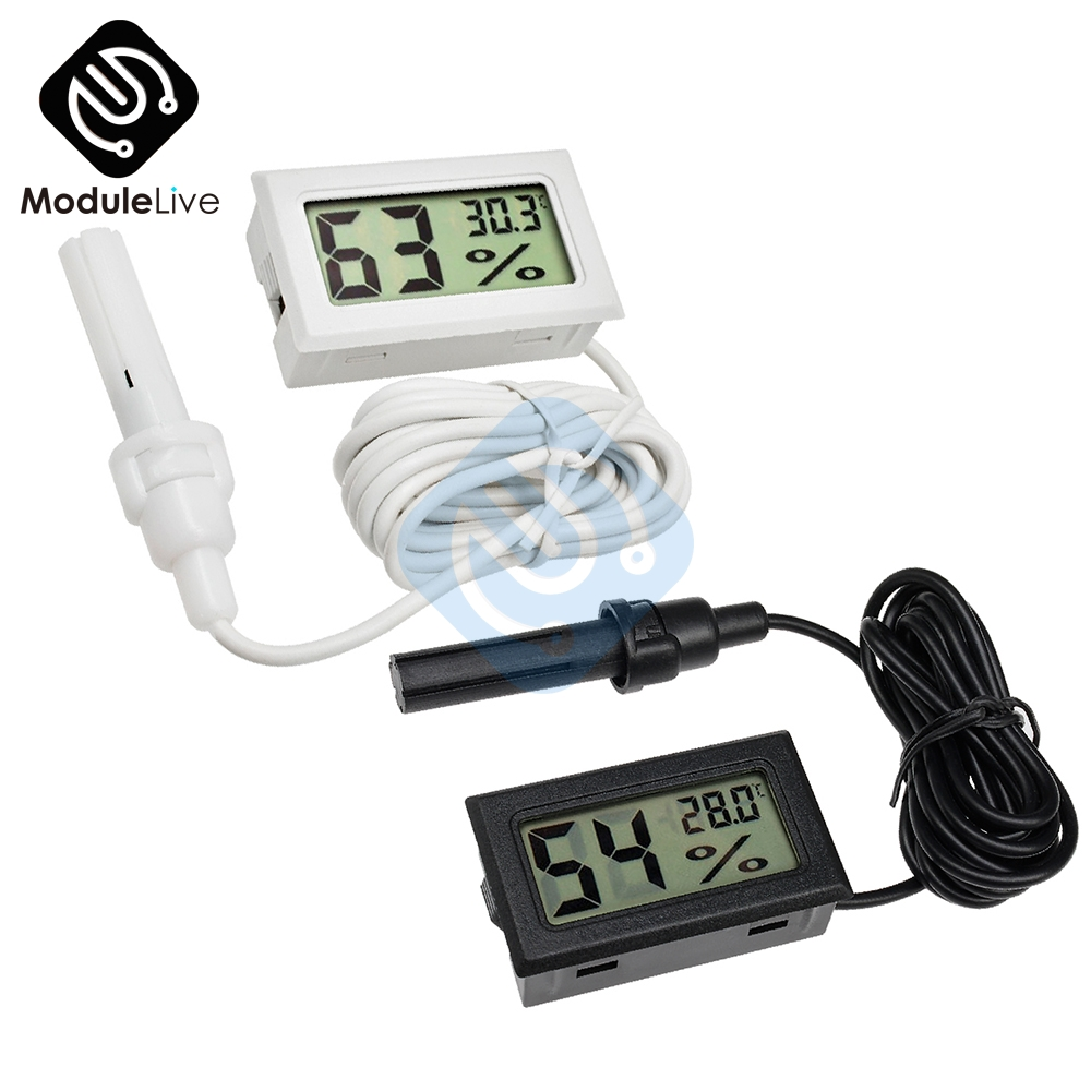 Digital Mini LCD Thermometer Hygrometer Humidity Temperature Meter Indoor /& Wire