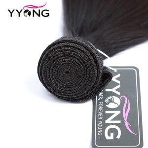 Image 4 - Yyong mechones de cabello lacio con cierre, pelo brasileño ondulado, 3 mechones, extensiones de cabello humano mechones Remy con cierre, extensión de cabello