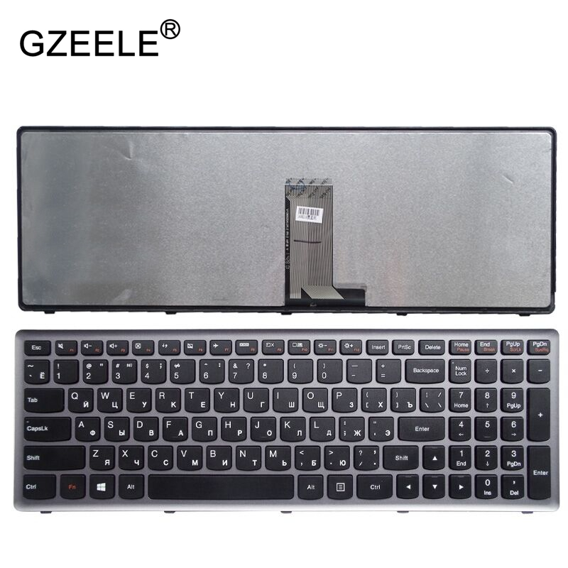 GZEELE New Russian Keyboard RU for LENOVO Z710 U510 Laptop Keyboard with frame new russian laptop keyboard for lenovo ideapad g500s g505s s500 z510 flex 15 z505 ru keyboard with backlit silver grey frame