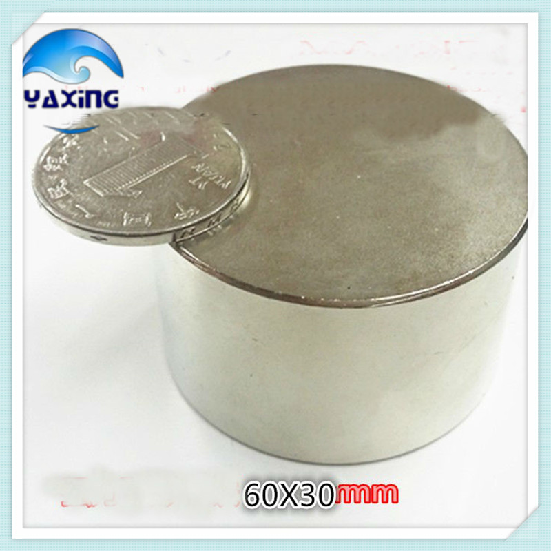 disc 60x30mm N35 rare earth permanent strong magnet high power magnet60 30mm magnet