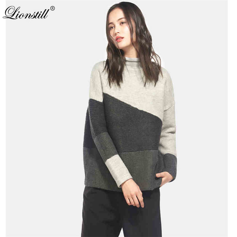 LIONSTILL 2018 Casual  loose long sleeve striped sweater