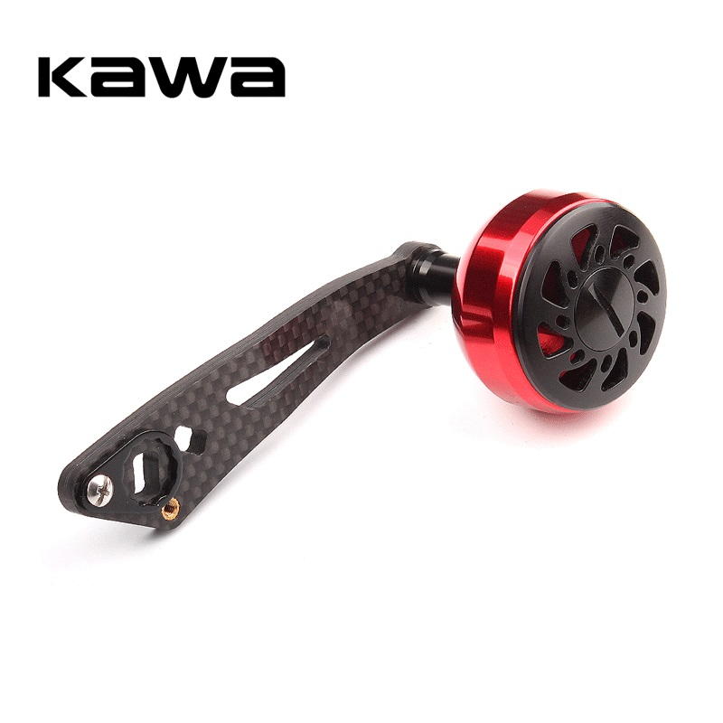 KAWA Fishing Reel Handle Strong Carbon Fiber For Daiwa Abu And Shimano Water-drop Reel Hole Size 8x5mm And 7*4mm Together