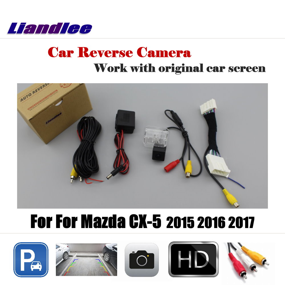 Car Rear View Reverse Rearview Camera For <font><b>Mazda</b></font> CX-5 CX 5 <font><b>CX5</b></font> 2015 <font><b>2016</b></font> 2017 AUTO Backup Parking Camera Original Screen Full HD image