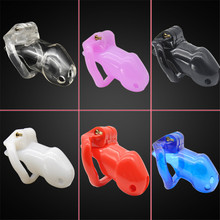 New Male Chastity Cock Cages Sex Toys For Men Penis Belt Lock With Four Penis Rings With Cage Gay Device Chastity Lock Sex Shop все цены
