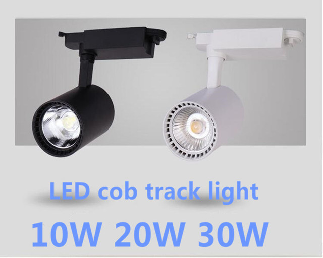COB 10W 20W 30W LED Modern LED track light lamp 2 wire for clothing ...