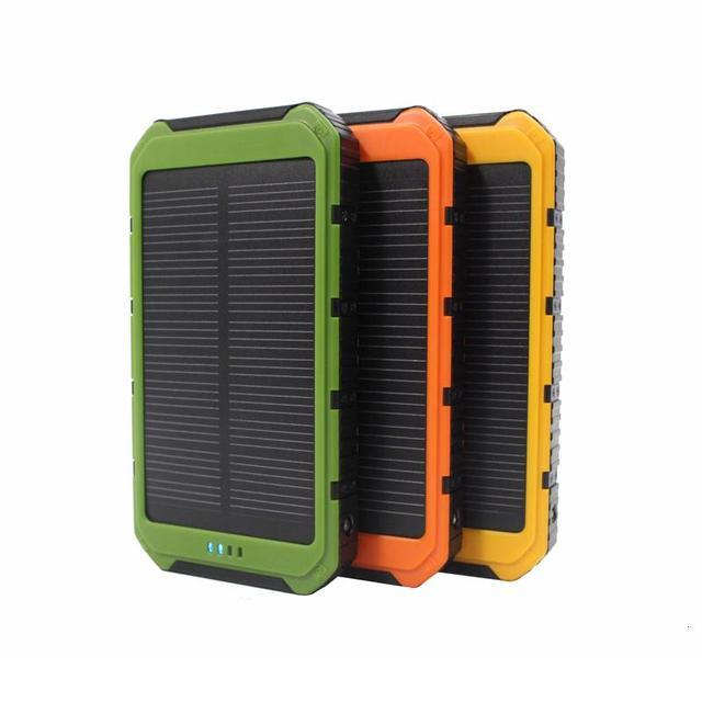 DCAE Новый Портативный Солнечный Банк Силы 10000 мАч Dual-USB LED Солнечное Зарядное Устройство powerbank для всех Телефонов Универсальный зарядное устройство