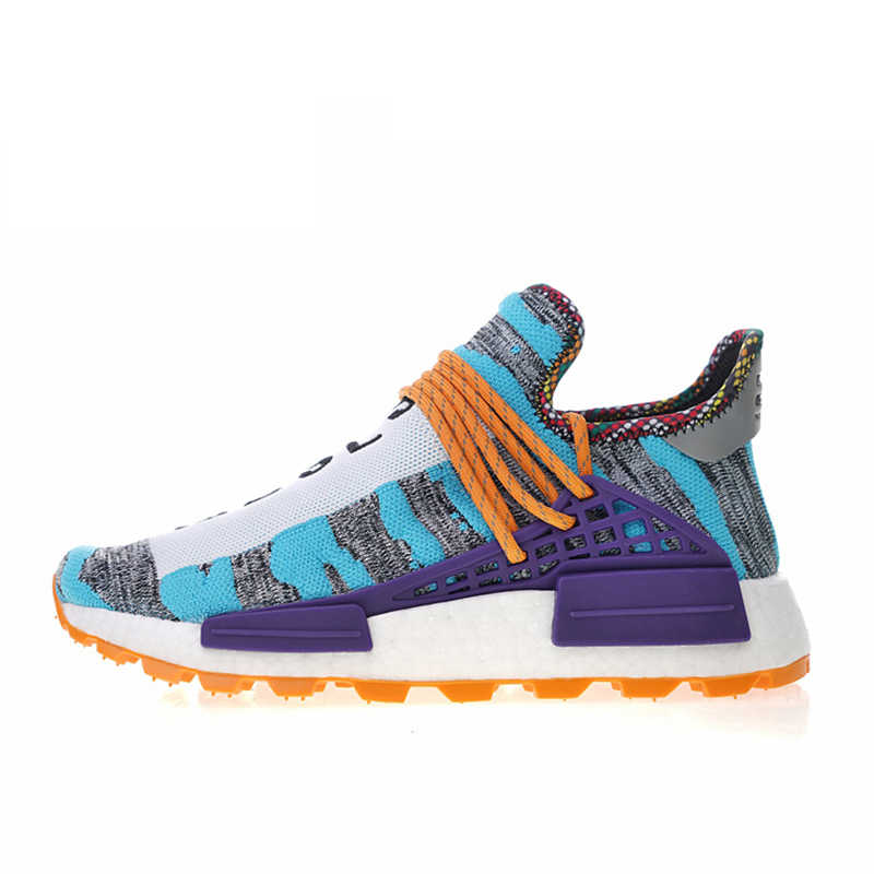 new concept 9f0ca 8f45a Adidas Men's Women's Running Shoes Pharrell Williams x Afro HU Solar Pack  Sport Sneakers 2018 New Designer Athletic BB9531