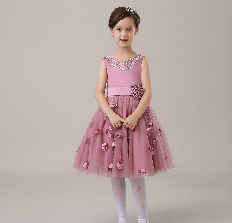 2016 Deluxe Fuchsia Appliques Tulle Tutu Girl Birthday Dress Baby Girls Party Dress Wedding Ball Gown Flower Girls Clothes прогулочная коляска cool baby kdd 6699gb t fuchsia light grey