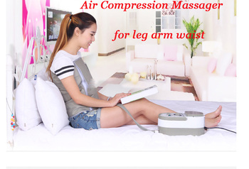Electric Air Pressure Leg Arm Waist Massage Machine Whole Body Massager Release Promote Blood Circulation Relieve Pain Fatigue