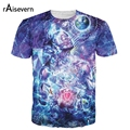 Raisevern Novo Projeto Trippy T 3D Camisa All-over Print Transcension T-shirt Estilo Moda Verão Top Plus Size M-XXL